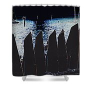 Kayaks Shower Curtain