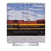 Kcs Locomotive Shower Curtain