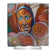 Keep Friends Close And Anemones Closer Shower Curtain