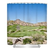 Keep It In The Short Grass Shower Curtain