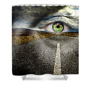 Keep Your Eyes On The Road Shower Curtain