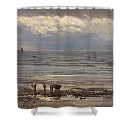 Kelp Gatherers Shower Curtain by Henry Moore