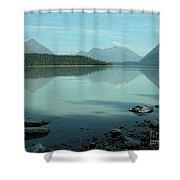 Kenai Lake Reflections Shower Curtain