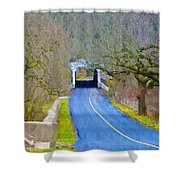 Kennedy's Bridge Over French Creek Shower Curtain