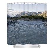 Kennicott River And The Wrangell Shower Curtain