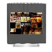 Kentucky Shed Ad Signs Shower Curtain