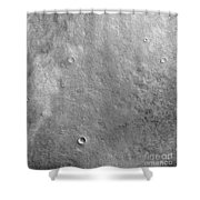 Kepler Crater On The Surface Of Mars Shower Curtain