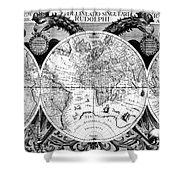 Keplers World Map, Tabulae Shower Curtain by Science Source