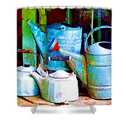 Kettles And Cans To Water The Garden Shower Curtain
