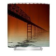 Key Bridge Shower Curtain