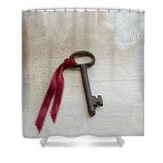 Key On Windowsill Shower Curtain