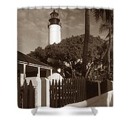 Key West Lighthouse Shower Curtain