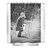 Khloe - Grayscale Shower Curtain