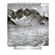 Khumbu Glacier Shower Curtain
