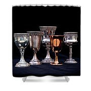 Kiddush Cups Shower Curtain