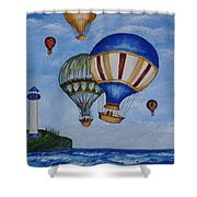 Kid's Art- Balloon Ride Shower Curtain