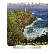 Kilauea Lighthouse Hawaii Shower Curtain