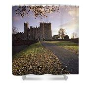 Kilkea Castle, Co Kildare, Ireland Road Shower Curtain