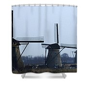 Kinderdijk Windmills 2 Shower Curtain