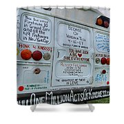 Kindness Bus 3 Shower Curtain