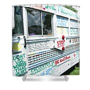 Kindness Bus 8 Shower Curtain