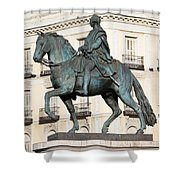 King Charles IIi Statue In Madrid Shower Curtain