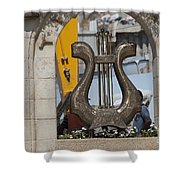 King David's Harp Shower Curtain