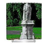 King Edward Vii Statue - Lichfield Shower Curtain