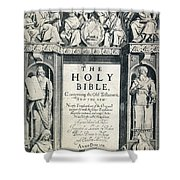 King James I Bible, 1611 Shower Curtain by Granger