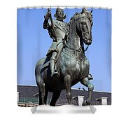 King Philip IIi Statue In Madrid Shower Curtain