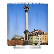 King Sigismund Column In Warsaw Shower Curtain