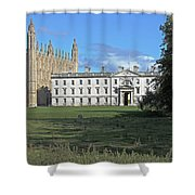 Kings College Chapel And The Gibbs Building Shower Curtain