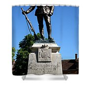 Kings Royal Rifle Corps Memorial In Winchester Shower Curtain