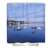 Kinnego Marina, Lough Neagh, Co Antrim Shower Curtain