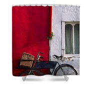 Kinsale, Co Cork, Ireland Bicycle Shower Curtain