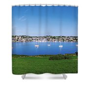 Kinsale, Co Cork, Ireland Boats And Shower Curtain