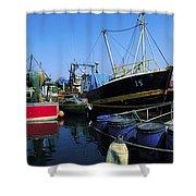 Kinsale, Co Cork, Ireland Fishing Boats Shower Curtain