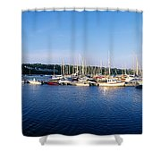Kinsale, Co Cork, Ireland Moored Boats Shower Curtain
