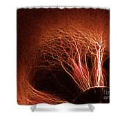 Kirlian Photograph Shower Curtain