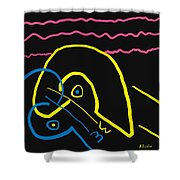 Kissing On The Beach Shower Curtain