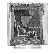 Kissing The Popes Feet Shower Curtain