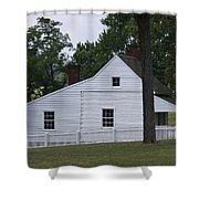 Kitchen And Slave Quarters Appomattox Virginia Shower Curtain
