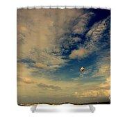 Kite At Folly Beach Near Charleston Sc Shower Curtain