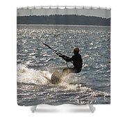 Kiteboarder Shower Curtain by Rrrose Pix