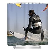 Kitesurfing Board Shower Curtain