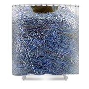 Kitty Blue Shower Curtain