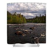 Kiutakongas At Oulankajoki Shower Curtain