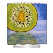 Kiwi Reflection Shower Curtain