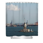 Kiz Kulesi - Leander Tower Istanbul Shower Curtain