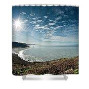 Klamath Overlook With Sun Shower Curtain